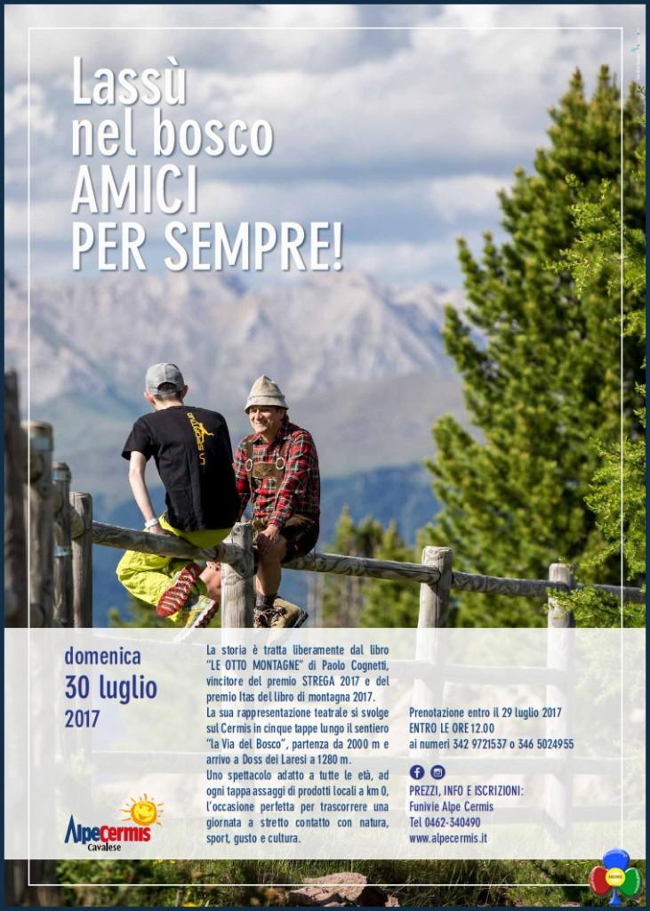 evento al cermis le otto montagne 731x1024 Lassù nel bosco , AMICI PER SEMPRE! Evento straordinario al Cermis