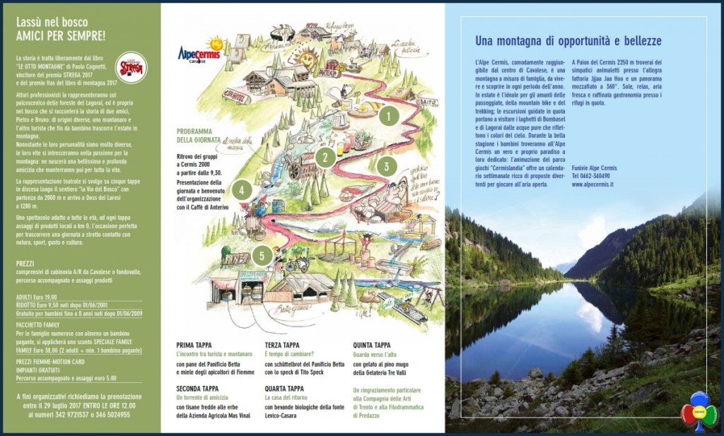 evento al cermis le otto montagne1 1024x617 Lassù nel bosco , AMICI PER SEMPRE! Evento straordinario al Cermis