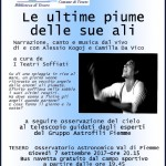 """le ultime piume delle sue ali 150x150 Erri De Luca in Valle di Fiemme con il film """"Alberi che Camminano"""""""