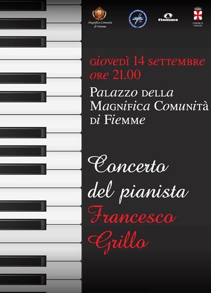 pianoforte Cavalese, Francesco Grillo in concerto alla Magnifica