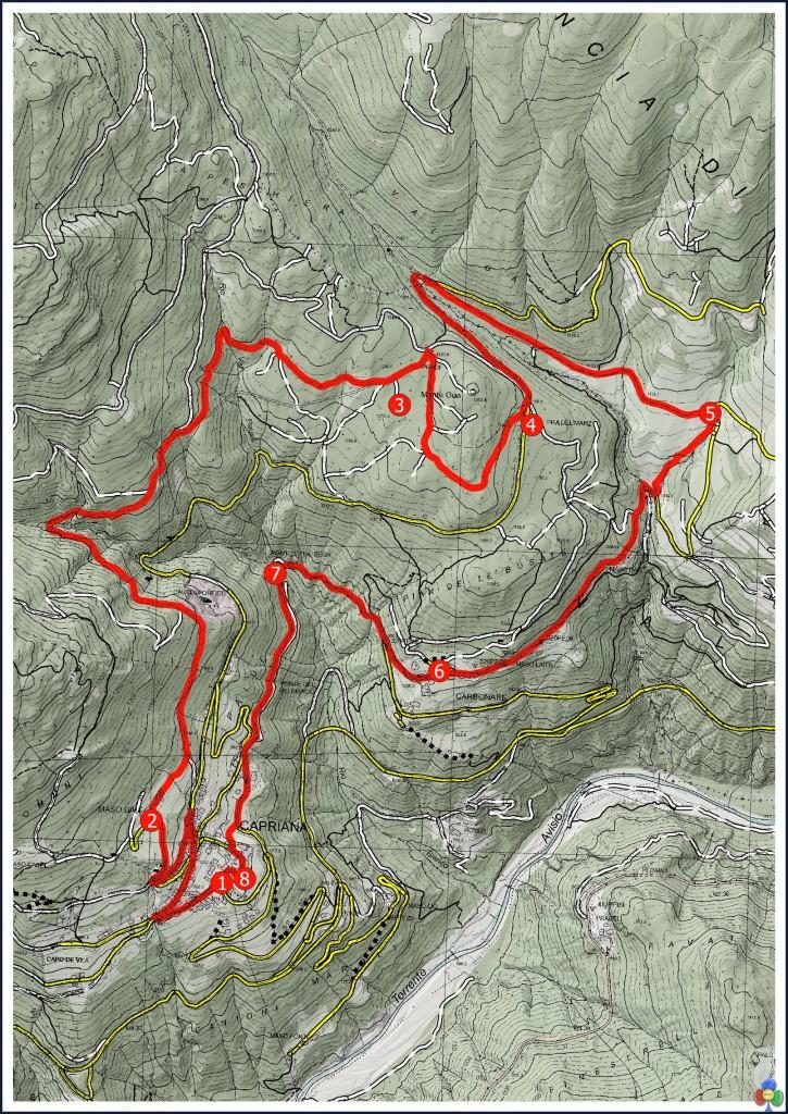 La Mappa della MAGNATONDA 725x1024 2a MAGNATONDA  de Caoriana si cammina degustando