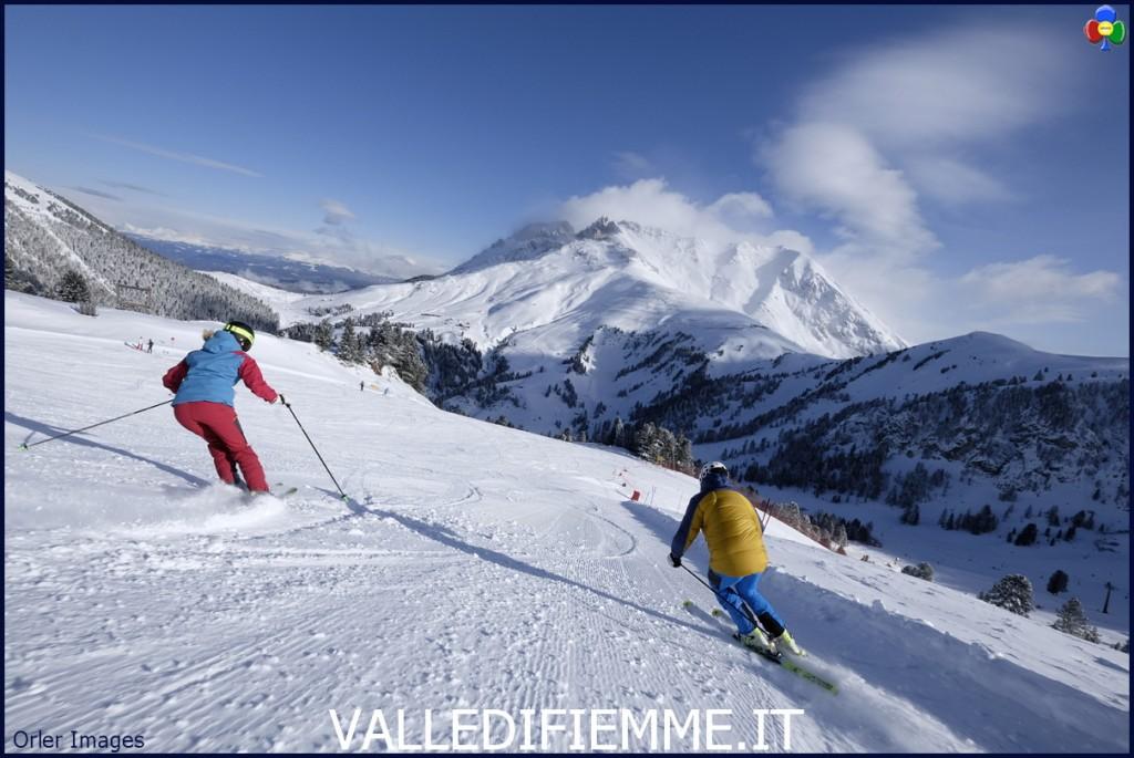 Agnello  Ski Center Latemar pg visitfiemme.it foto orlerimages 1024x685 Tutti in pista. Apre il comprensorio sciistico Fiemme Obereggen