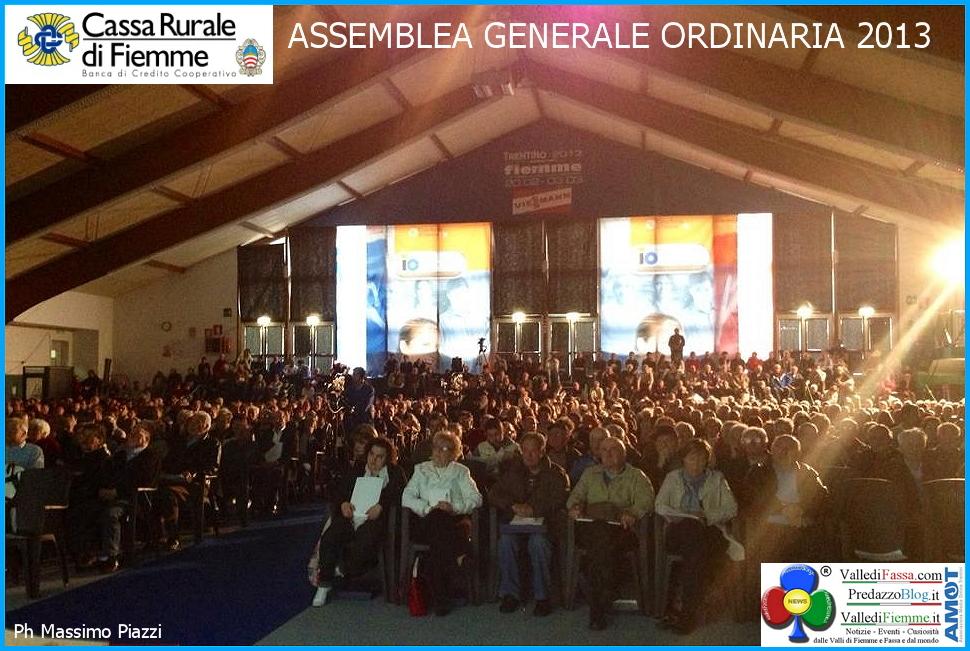 cassa rurale di fiemme assemblea ordinaria 2013 Assemblee Straordinarie Casse Rurali di Fiemme verso la fusione