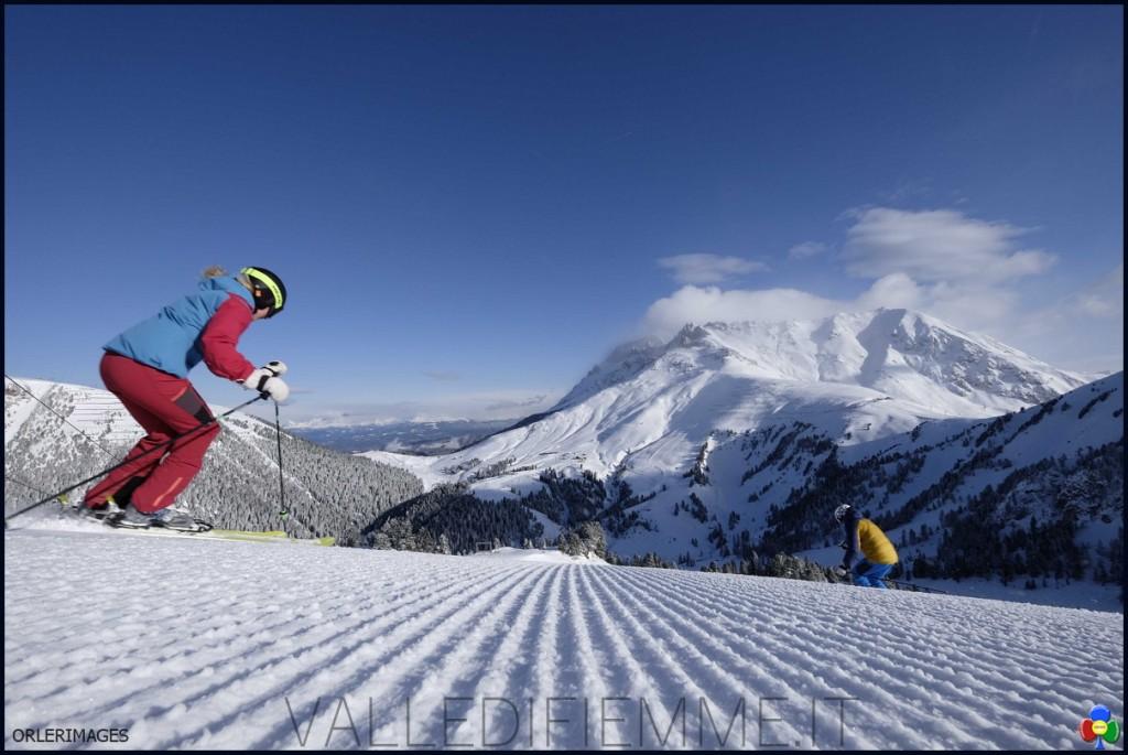 Pista Agnello Alpe di Pampeago Ski Center Latemar Fiemme Obereggen pg visitfiemme.it foto orlerimages.com DSF0286 p 1024x685 Pampeago Challenge 51: vinci con 51 centesimi di secondo