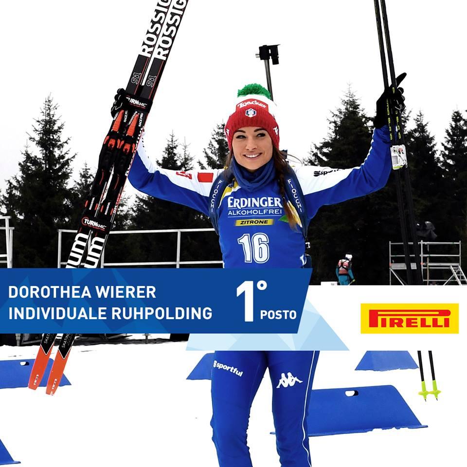 dorothea wierer prima Dorothea Wierer trionfa nella 15 km di Ruhpolding   Video
