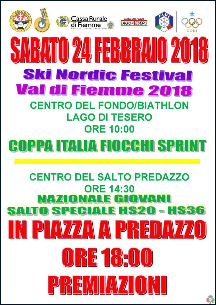 coppa italia fiemme 725x1024 SKI NORDIC FESTIVAL 2018, da domani sulle nevi di Fiemme