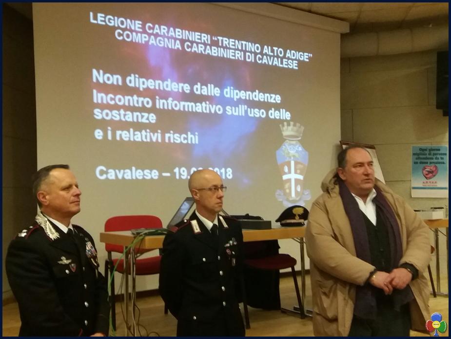 carabinieri cavalese Prevenzione comportamenti a rischio alla Rosa Bianca con i Carabinieri