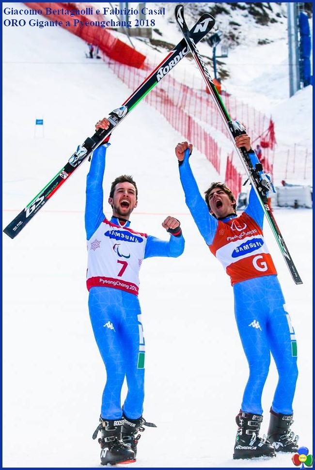 giacomo bertagnolli e fabrizio casal Pyeongchang 2018 ORO Gigante per Bertagnolli e Casal a Pyeongchang