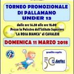 locandina torneo pallamano 2018 150x150 Torneo di Pallamano under 12 a Cavalese