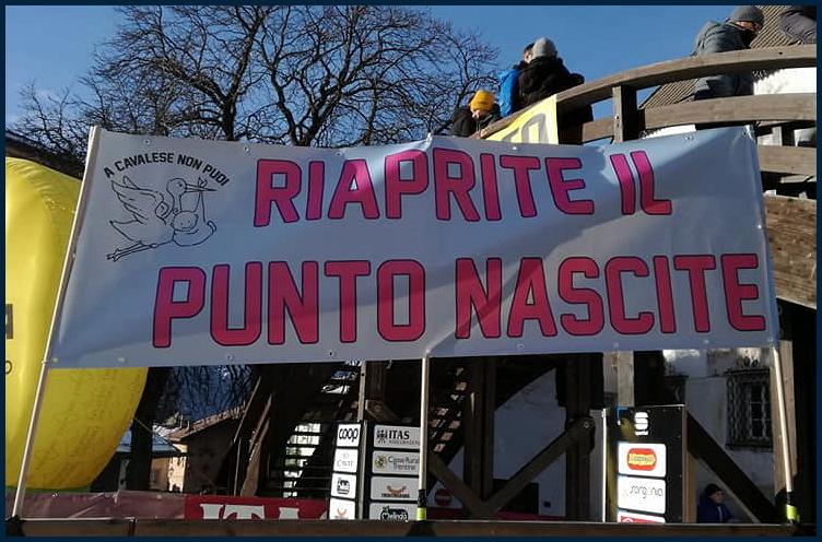 riaprite il punto nascite di fiemme1 Punto Nascite: Manifestazione di protesta sulla Statale 48 delle Dolomiti