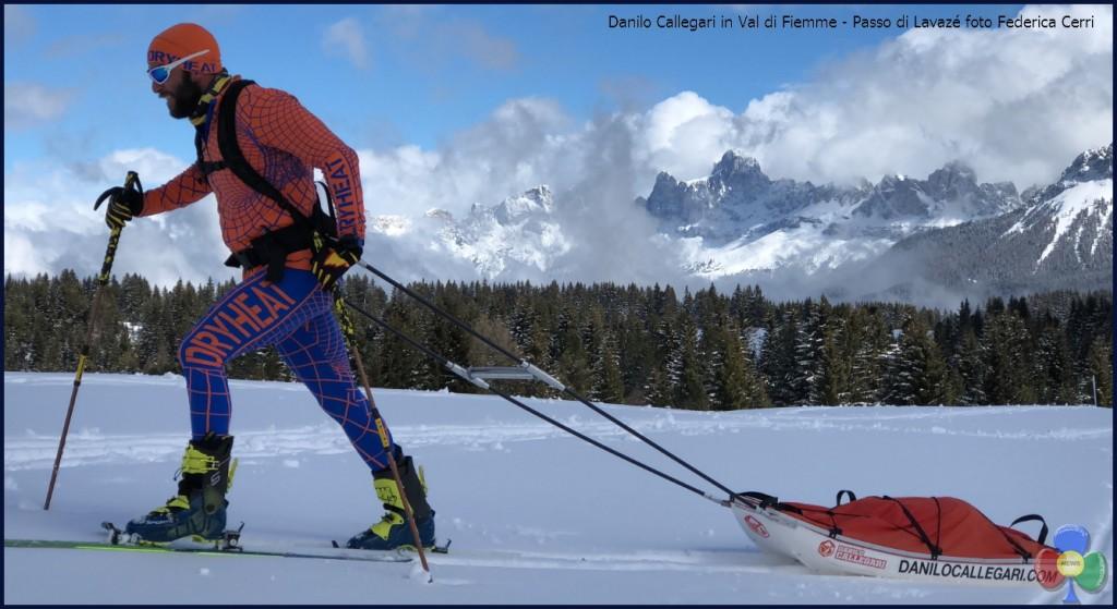 Danilo Callegari in Val di Fiemme Passo di Lavazé foto Federica Cerri 1024x559 Antarctica Extreme la sfida di Danilo Callegari presentata in Val di Fiemme