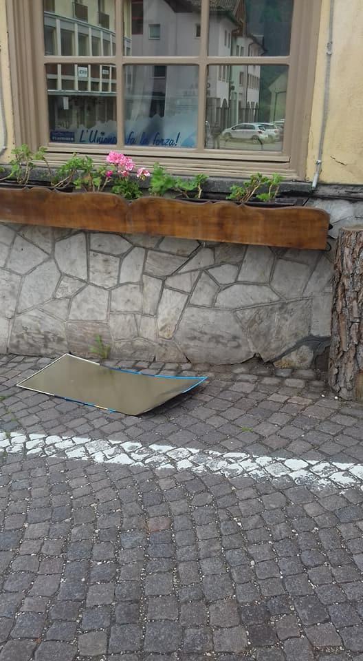 vandalismo a tesero ph gabriella deflorian3  Atti vandalici nella notte di sabato a Tesero