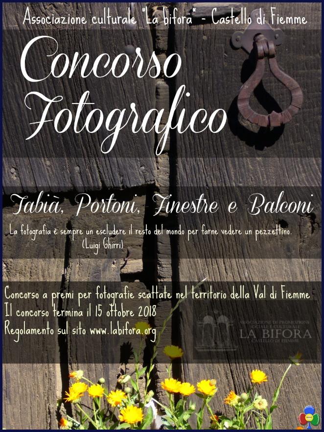 concorso fotografico la bifora castello Concorso fotografico  Tabià, Portoni, Finestre e Balconi