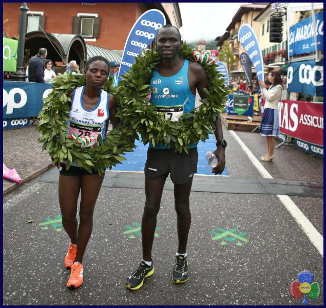 arrivo running Marcialonga Running, Ousman Jaiteh da Lampedusa al trionfo