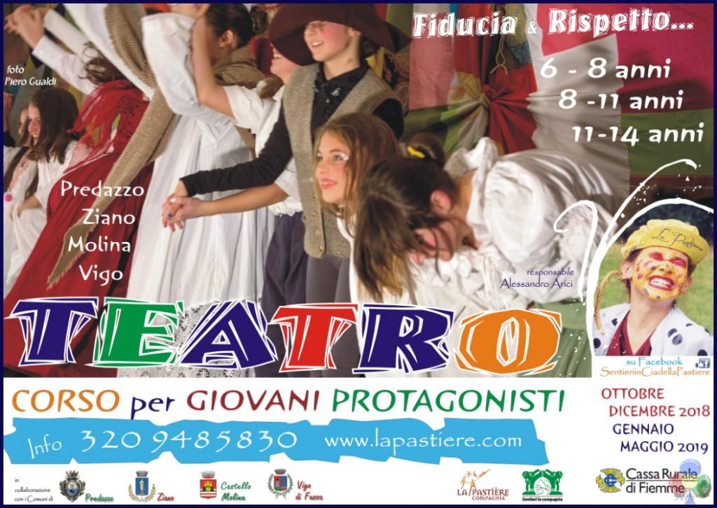 CORSI PER GIOVANI PROTAGONISTI 1024x726 Teatro, corsi per giovani protagonisti 2018 2019