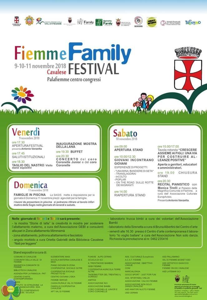 fiemme family festival A Cavalese il Family Festival dal 9 al 11 novembre