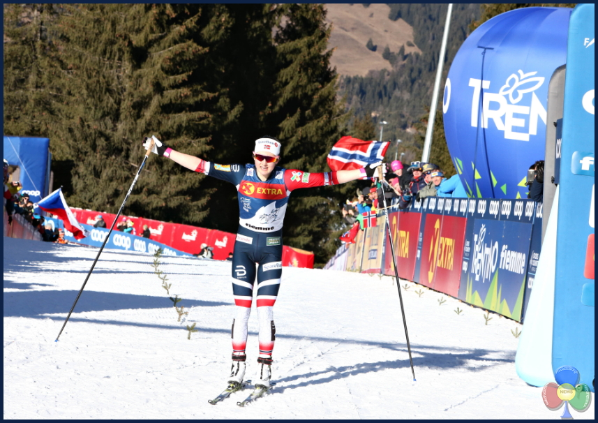 OESTBERG Final Climb femminile sul Cermis al 13° Tour de Ski