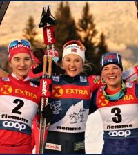 podio femminile tour de ski 2019 cermis