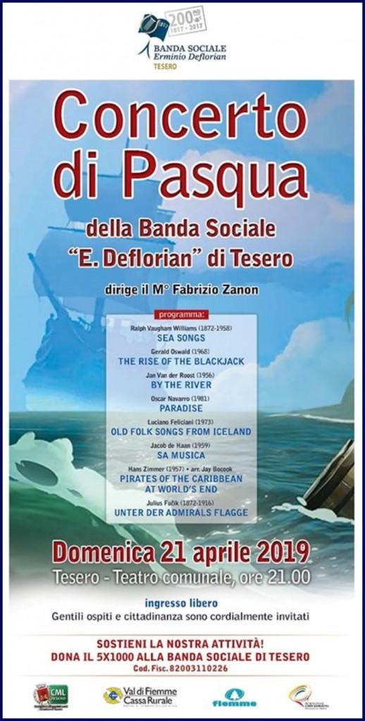 banda di tesero concerto di pasqua 2019 518x1024 La Banda di Tesero si aggiudica il 3° Premio Flicorno dOro