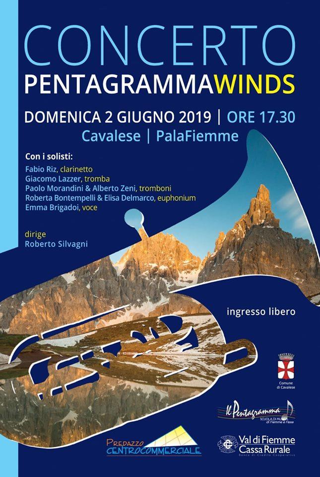 pentagramma winds 2019 Pentagramma Winds in concerto Domenica 2 giugno a Cavalese