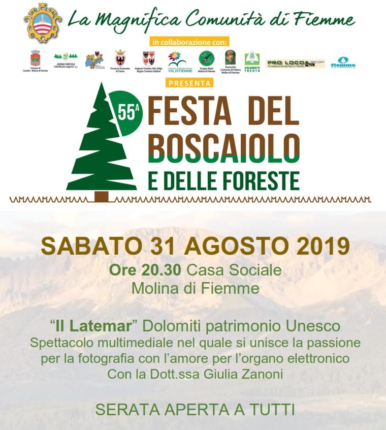festa del boscaiolo 2019 molina Festa del Boscaiolo e delle Foreste 2019
